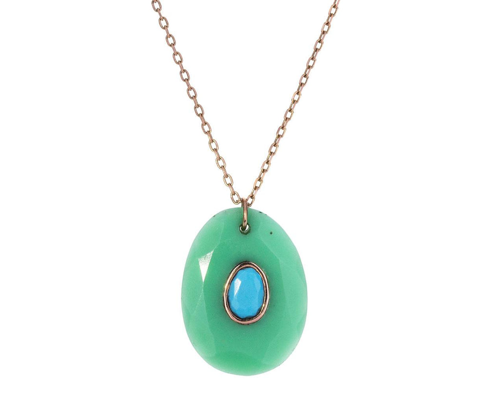 Chrysoprase and Turquoise Orso N°2 Necklace - TWISTonline