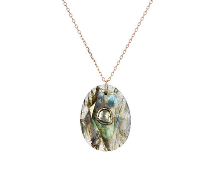 Labradorite and Diamond Orso  N°2 Necklace - TWISTonline