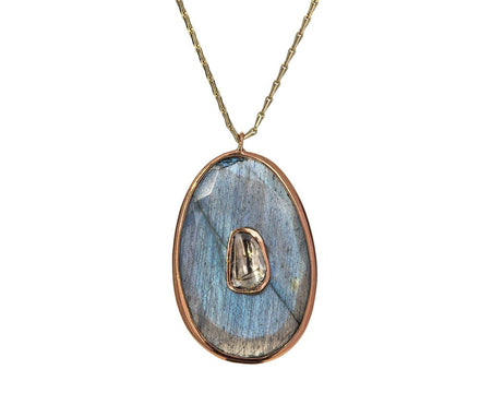 Labradorite and Diamond Simone Necklace - TWISTonline