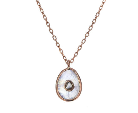 Moonstone and Diamond Orso Nº1 Necklace - TWISTonline