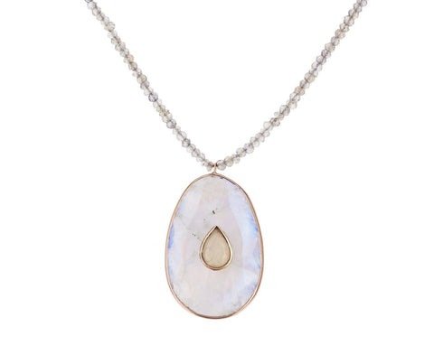 Moonstone Labradorite and Opal Simone Necklace - TWISTonline
