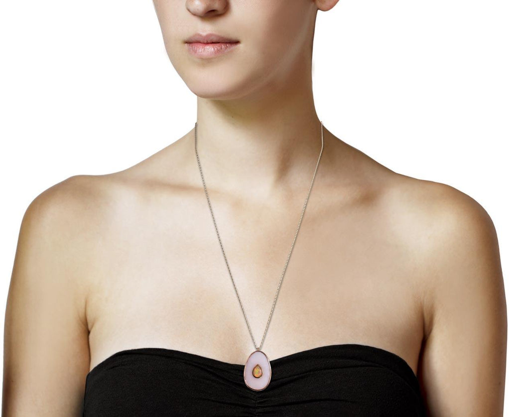 Pink Opal and Opal Simone Necklace - TWISTonline