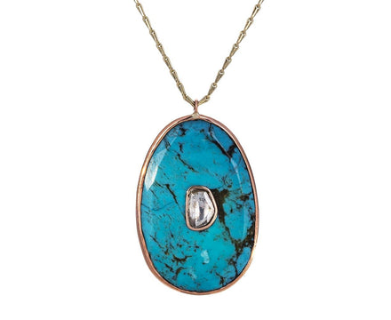 Turquoise Diamond Simone Pendant Necklace - TWISTonline