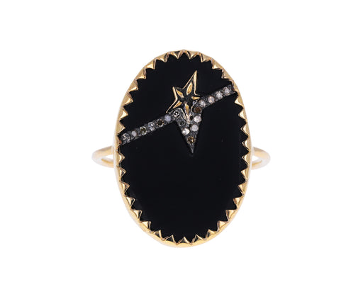 Black Resin and Diamond Varda N°3 Ring