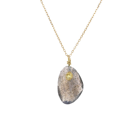 Labradorite and Yellow Sapphire Necklace