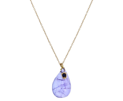 Tanzanite and Blue Sapphire Pendant Necklace