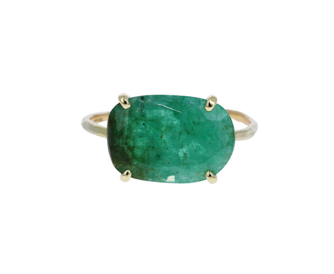 Natural Emerald Slice Ring