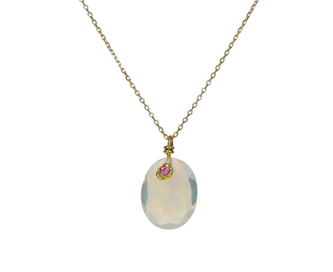 Opal and Pink Sapphire Necklace - TWISTonline