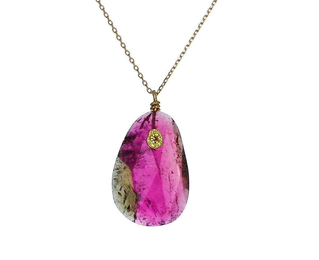 Watermelon Tourmaline and Pink Sapphire Necklace