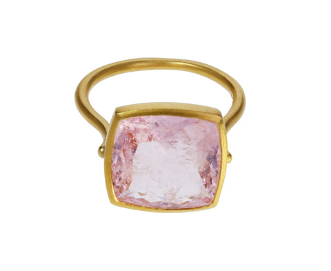 Square Morganite Ring - TWISTonline