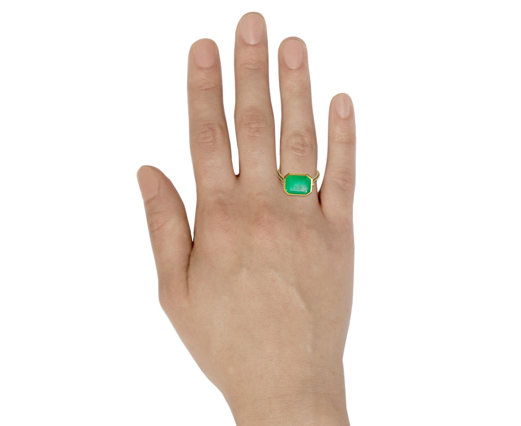 Square Colombian Emerald Ring - TWISTonline