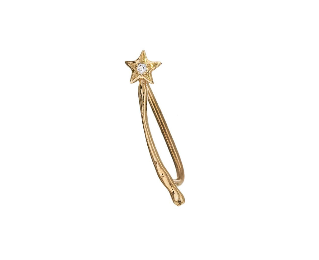Magic Wand SINGLE Ear Climber zoom 1_sofia_zakia_gold_diamond_magic_wand_earring2