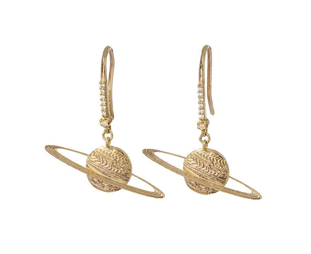 Diamond Saturn Earrings - TWISTonline
