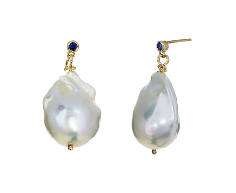 Pearl and Sapphire Earrings - TWISTonline