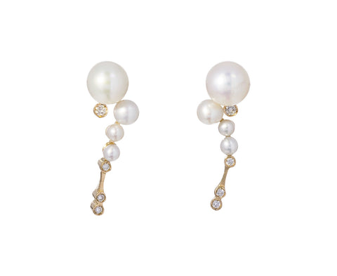 Pearl and Diamond Shimmer Earrings