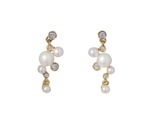 Supreme Pearl and Diamond Shimmer Earrings - TWISTonline