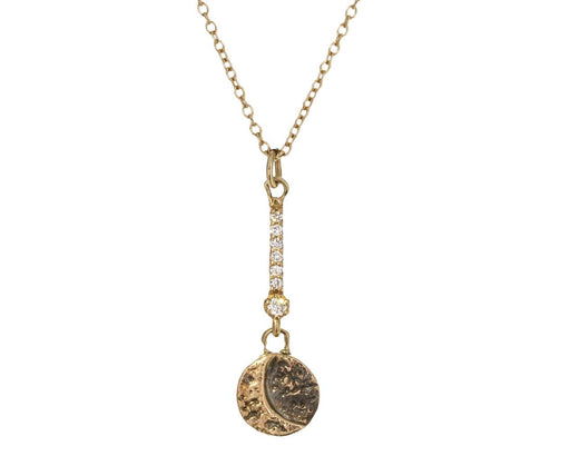 Diamond Crescent Moon Necklace - TWISTonline