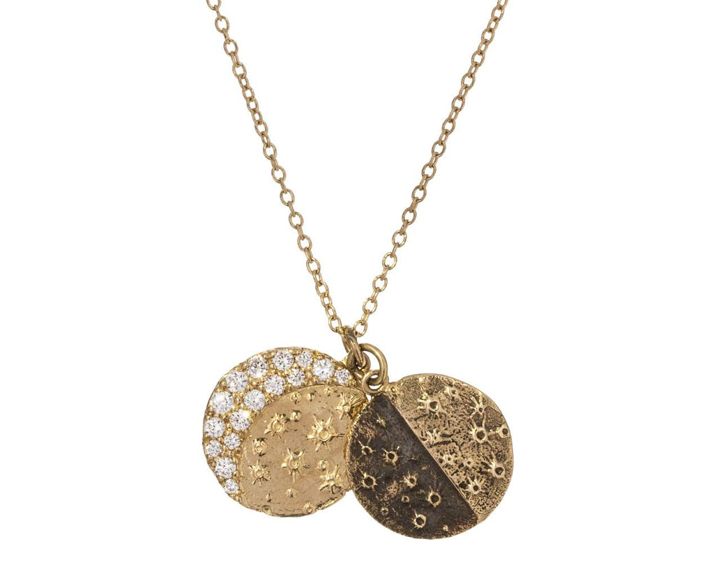 Diamond Lunar Phase Necklace - TWISTonline