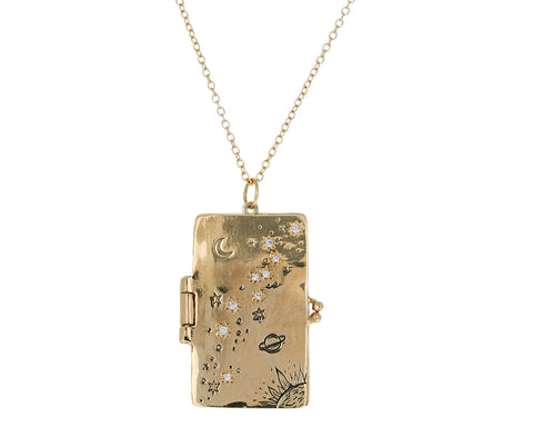 Starburst Book Locket Pendant Necklace - TWISTonline