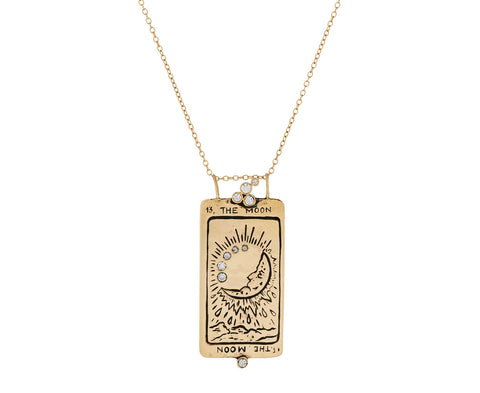 Supreme Moon Tarot Card Pendant Necklace