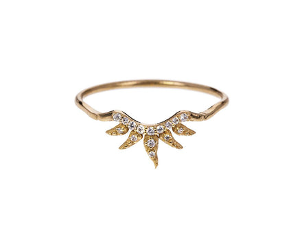 Diamond Arabesque Band with Petals - TWISTonline