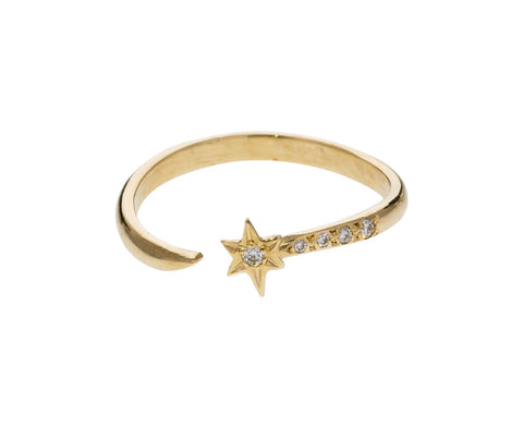 Diamond Falling Star Ring