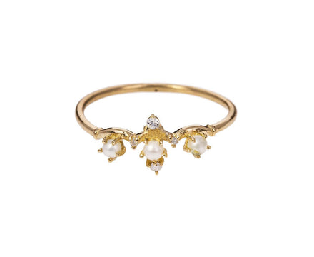 Pearl Winter Waltz Diamond Ring - TWISTonline