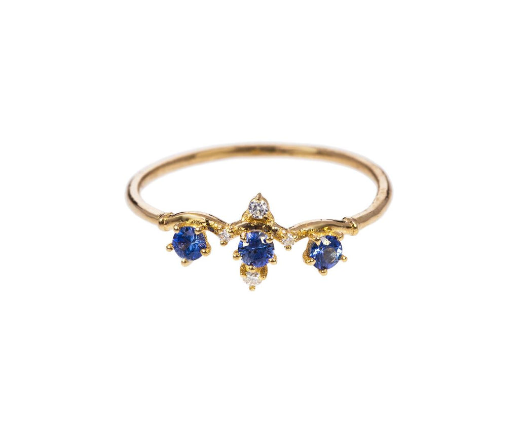 Blue Sapphire and Diamond Winter Waltz Ring - TWISTonline