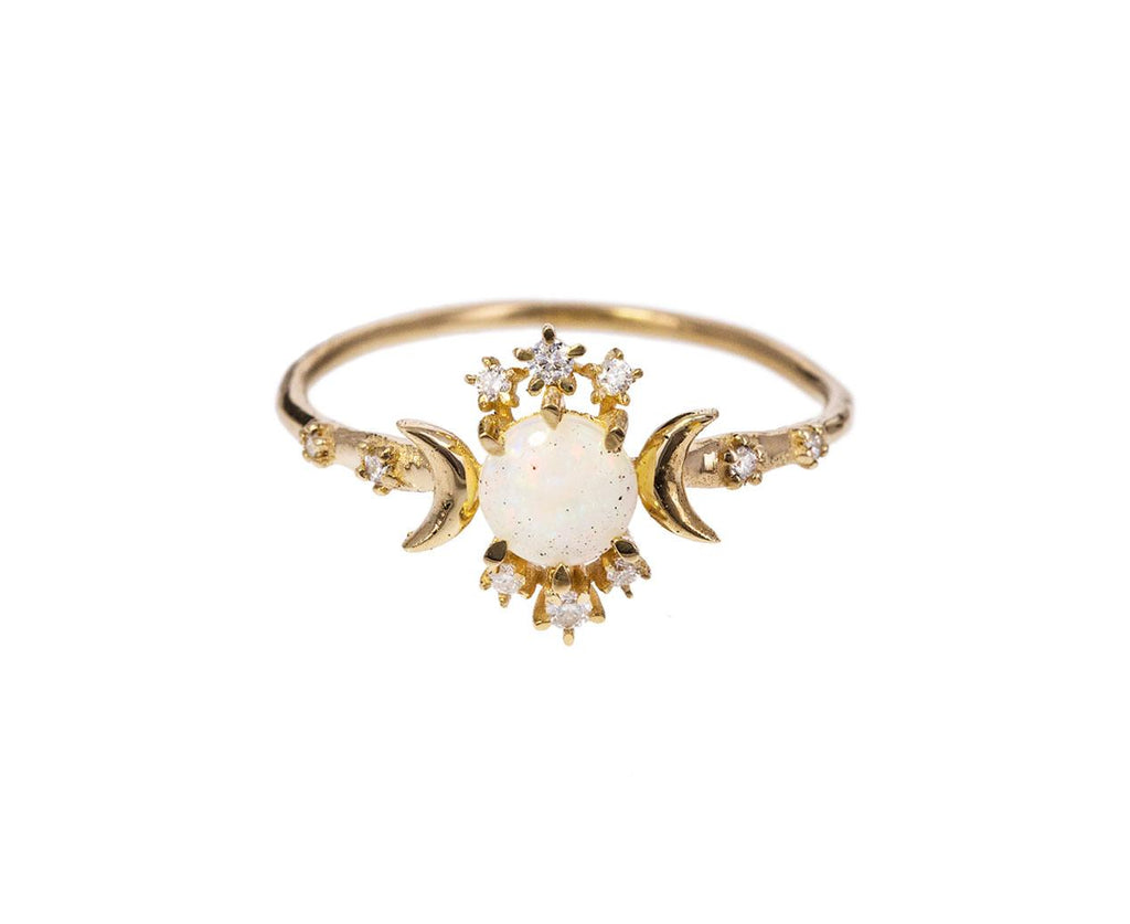 Opal Diamond Wandering Star Ring zoom 1_morphe_gold_diamond_opal_wandering_star_ring1