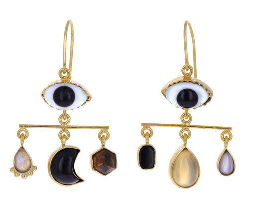 Black and White Eye Balance Earrings