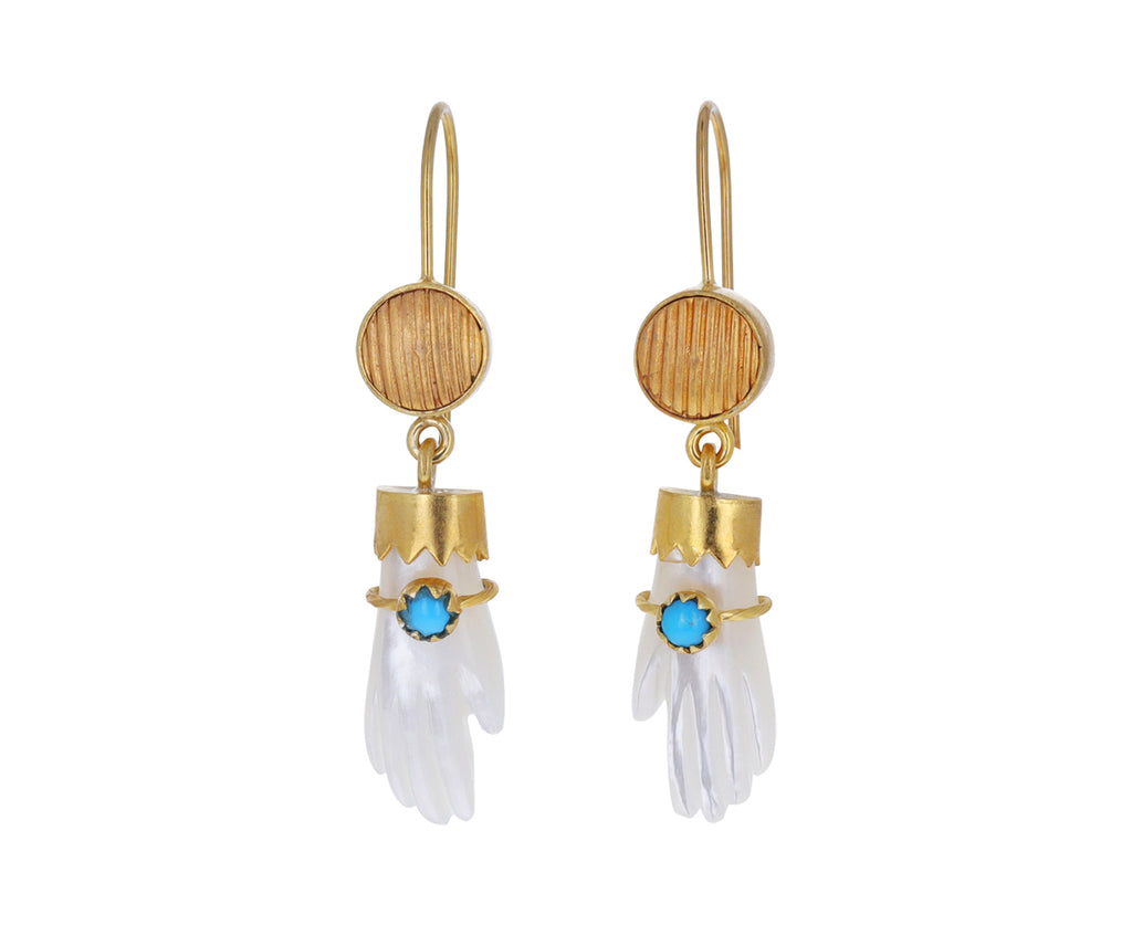 Mother-of-Pearl Hand Earrings