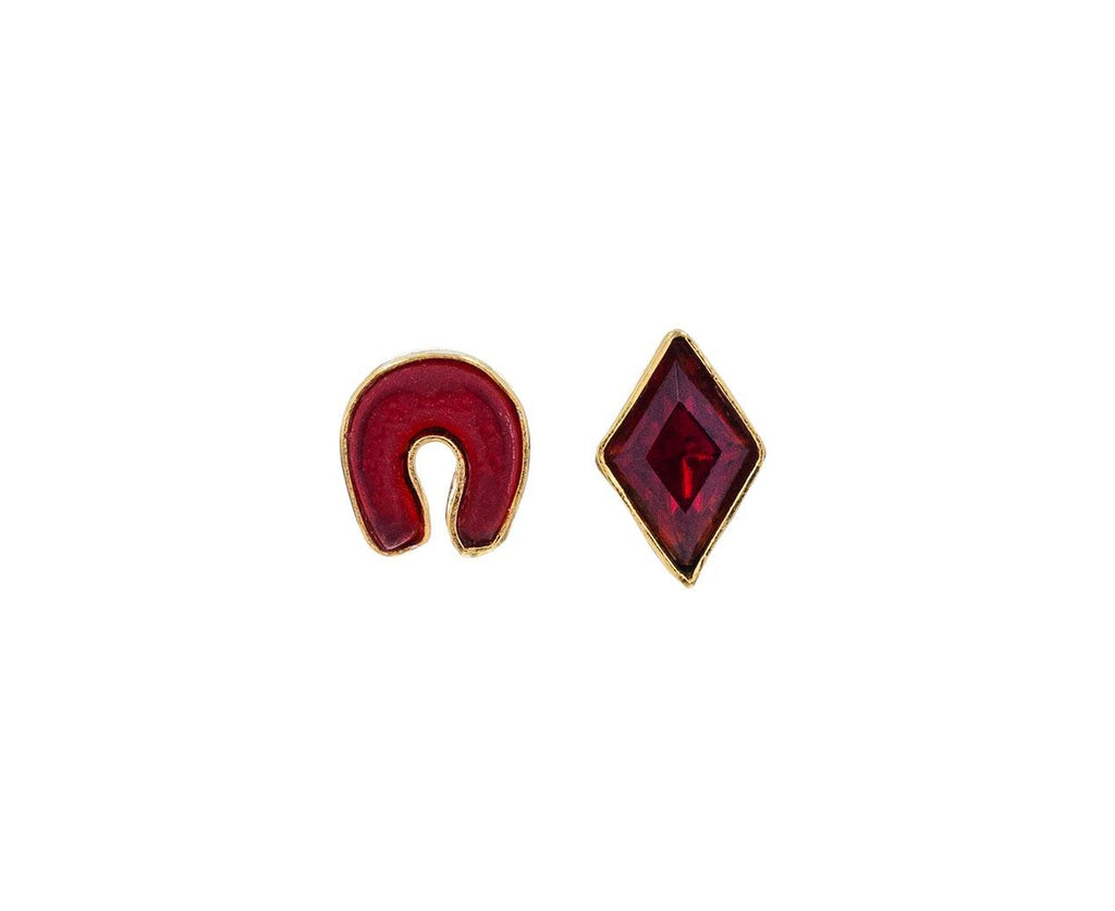 Mismatched Red Vintage Earrings - TWISTonline