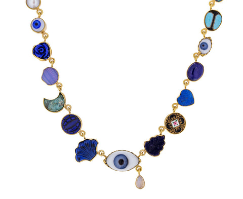 Ceramic Eye and Blue Trinket Necklace - TWISTonline