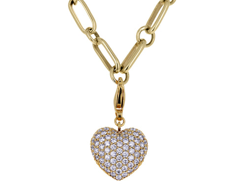 Buddha Mama Diamond Puffy Heart Charm ONLY