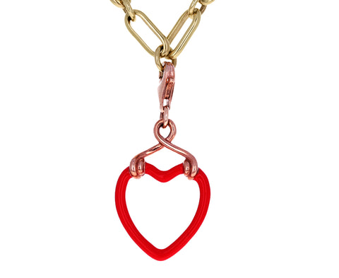 Bea Bongiasca Red Enamel Heart Charm ONLY