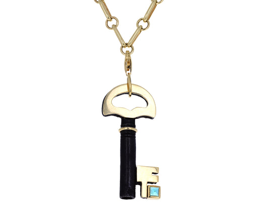 Elena Votsi Emerald Key to My Heart Charm ONLY