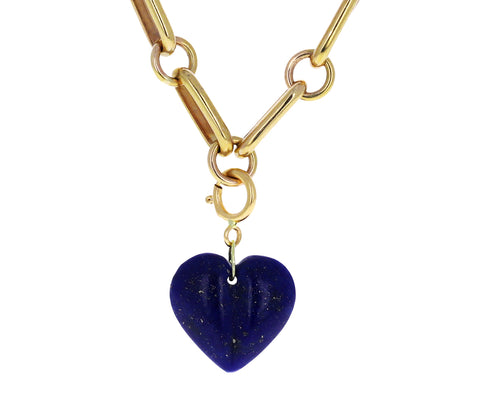 Ten Thousand Things Mini Split Lapis Heart Charm ONLY