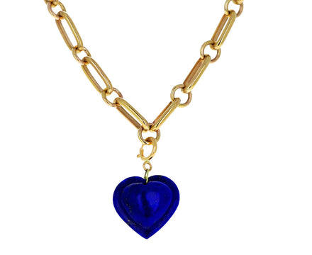 Ten Thousand Things Lapis Heart Charm ONLY