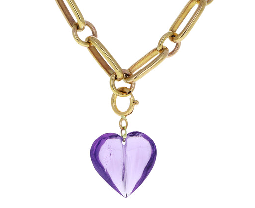 Ten Thousand Things Amethyst Heart Charm ONLY