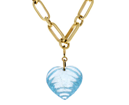 Ten Thousand Things Aquamarine Heart Charm ONLY