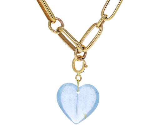 Ten Thousand Things Aquamarine Split Heart Charm ONLY