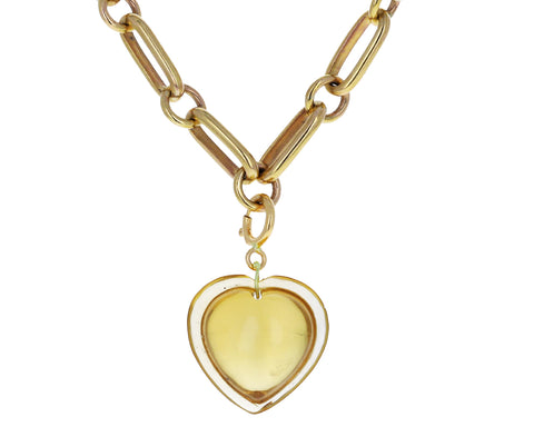 Ten Thousand Things Citrine Heart Charm ONLY