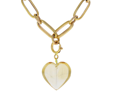 Ten Thousand Things Mini Split Citrine Heart Charm ONLY