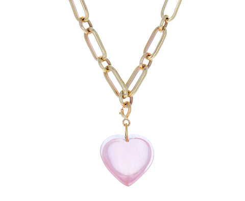 Ten Thousand Things Rose Quartz Heart Charm ONLY