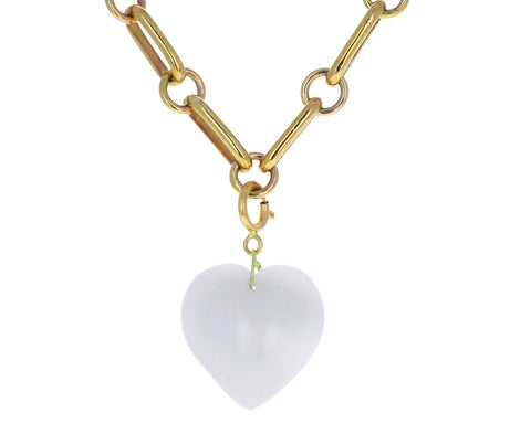 Ten Thousand Things White Agate Heart Charm ONLY