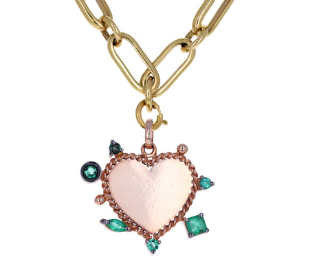 Carolina Neves Emerald Heart Charm ONLY