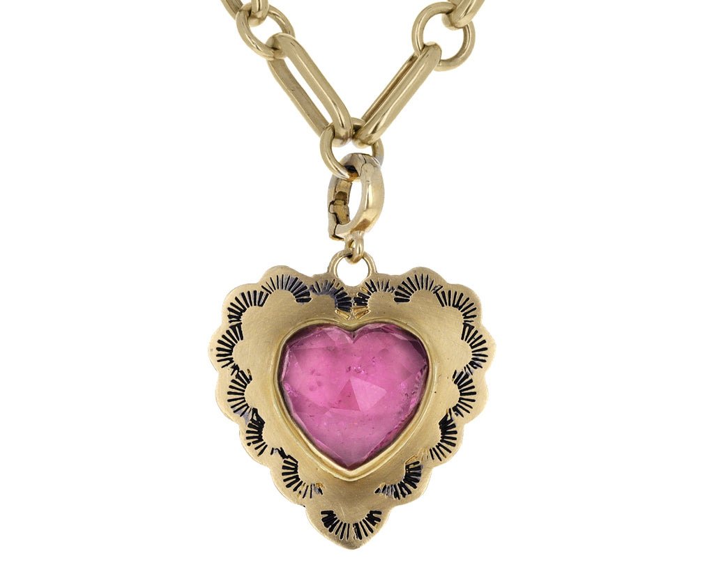 Christina Alexiou Pink Tourmaline Heart Charm ONLY