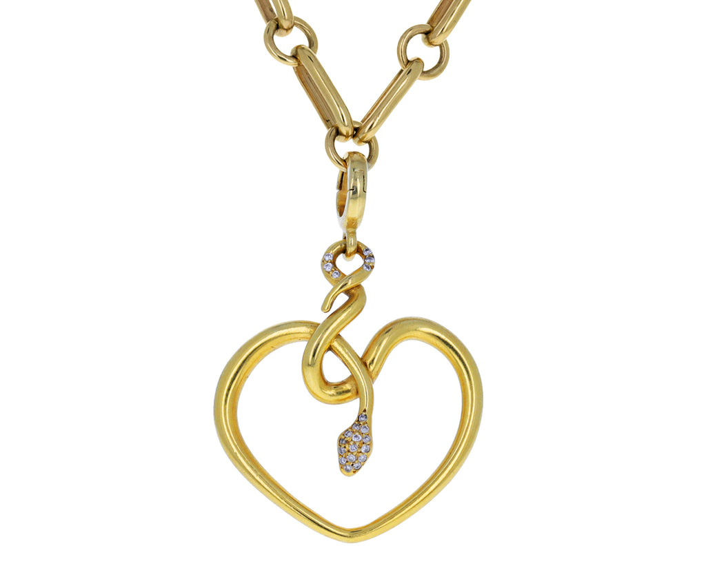 Christina Alexiou Diamond Snake Heart Charm ONLY