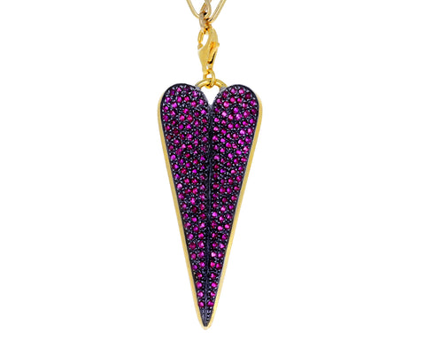 Elena Votsi Ruby Eros Folded Heart Charm ONLY