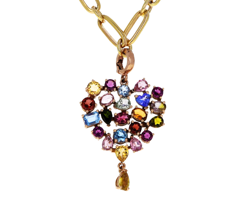 Christina Alexiou Multi Colored Tourmaline Heart Charm ONLY